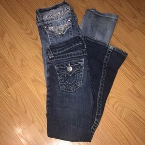 Size 7-8 Girls name brand jeans lot